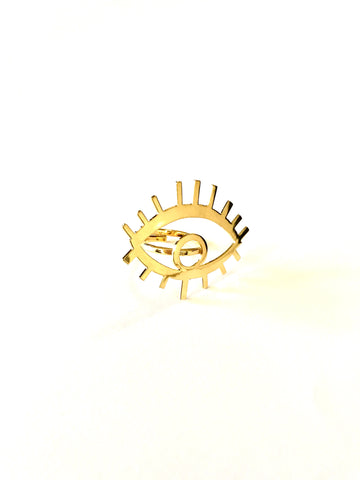 EYE LASHES 👁 ✨ RING - GOLD 24k -
