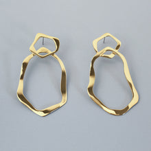 Load image into Gallery viewer, Gold Mirage Hoop Earrings