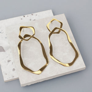 Gold Mirage Hoop Earrings