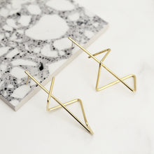 Load image into Gallery viewer, Gold Zig Zag Earrings