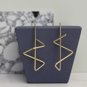 Gold Zig Zag Earrings
