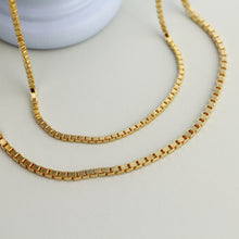 Load image into Gallery viewer, Gold Quadra Chain Necklace