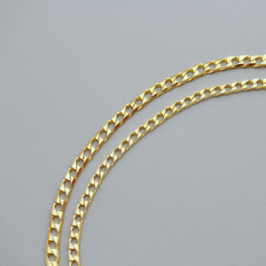 Gold Trinity Chain Necklace