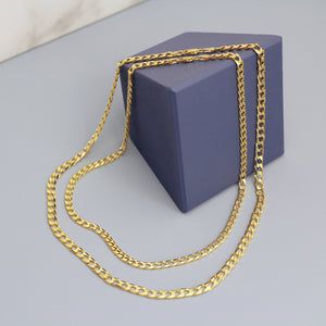 trinity gold plated chain link italy statement modern contemporary jewelry jewellery magwood mociun toronto canada layer