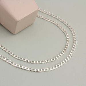 Silver Trinity Chain Necklace