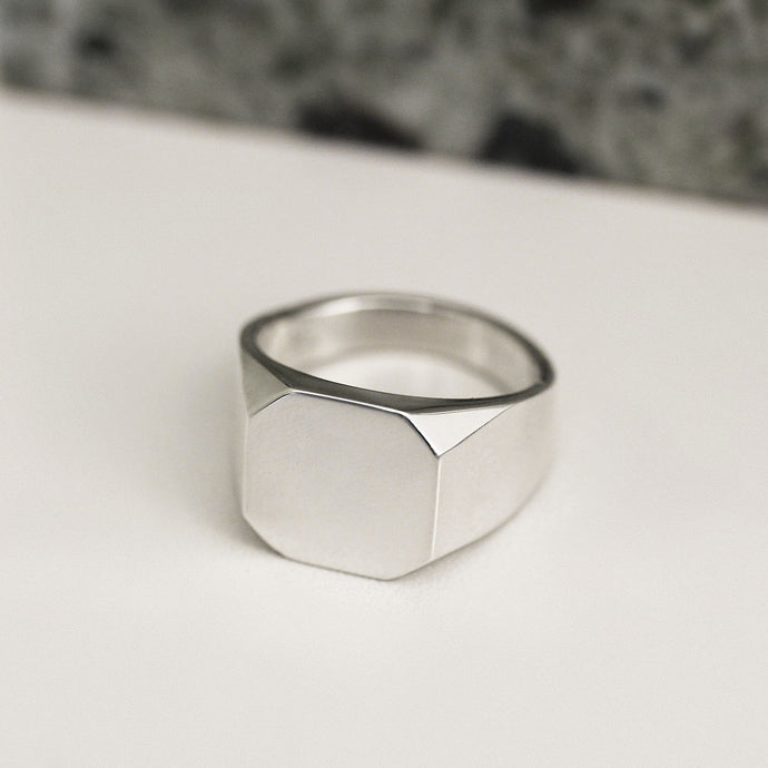 Silver Asher Signet Ring