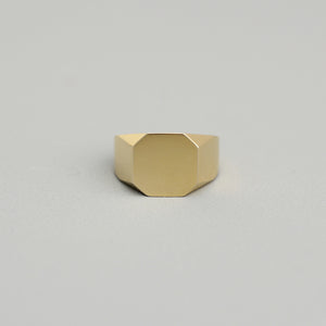 tara leigh rose 10k 14k yellow gold signet ring asher statement modern contemporary fine jewelry jewellery magwood mociun handmade toronto canada