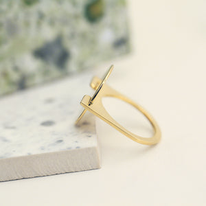 Gold Oval Phantom Ring