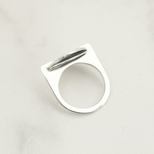 Load image into Gallery viewer, Silver Oval Phantom Ring