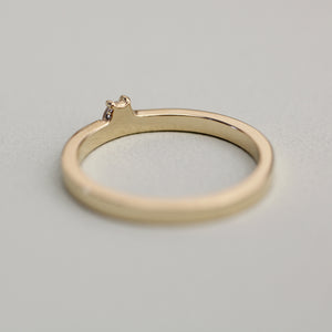 14k Gold Mini Hexagon Diamond Ring