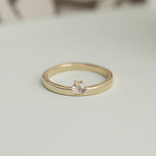Load image into Gallery viewer, 14k Gold Mini Hexagon Diamond Ring