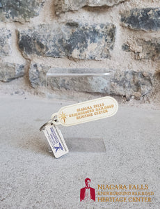 Heritage Center Wooden Keychain