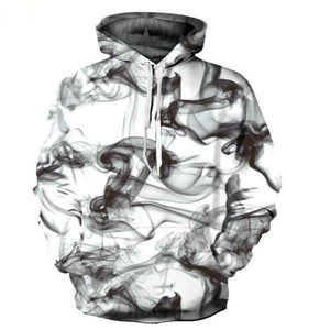 New Mens Graffiti Pattern 3D Printed Hoodies Drawstring Sweatshirts