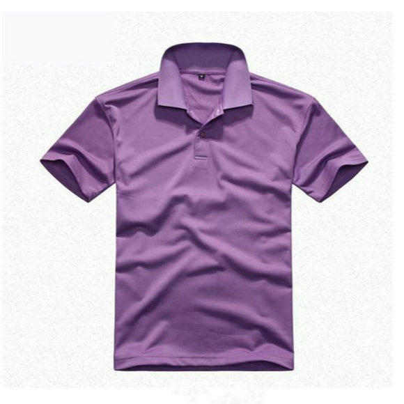 New Summer Men Fashion Short Sleeve Solid Color Cotton Polo Shirt