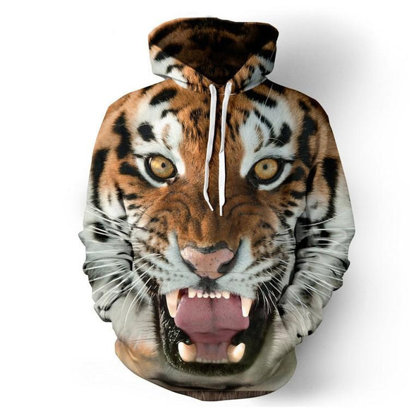 New Men's Cool Tiger 3D Print Hoodies Fashion Pullovers Sweatshirts