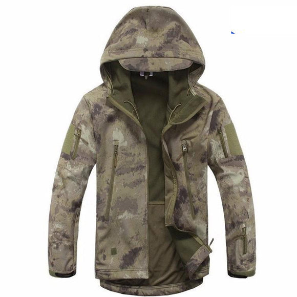 New Autumn Winter Men Double-layer Collar Military Tactical Waterproof Windproof Jacket Coat