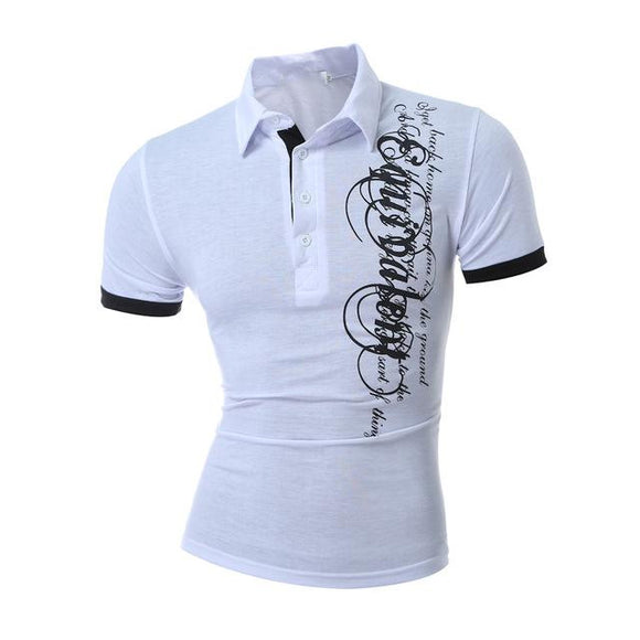 New Summer Men Short Sleeve Turn-down Collar Polo Shirt Casual Breathable Cotton Polos