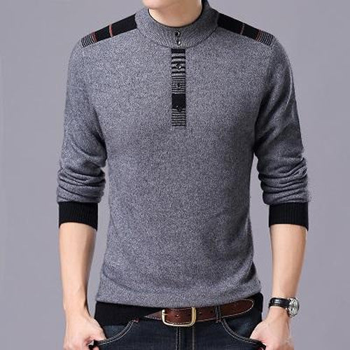 New Arrivals Winter Men Thick Warm O-Neck Wool Casual Knitted Sweater