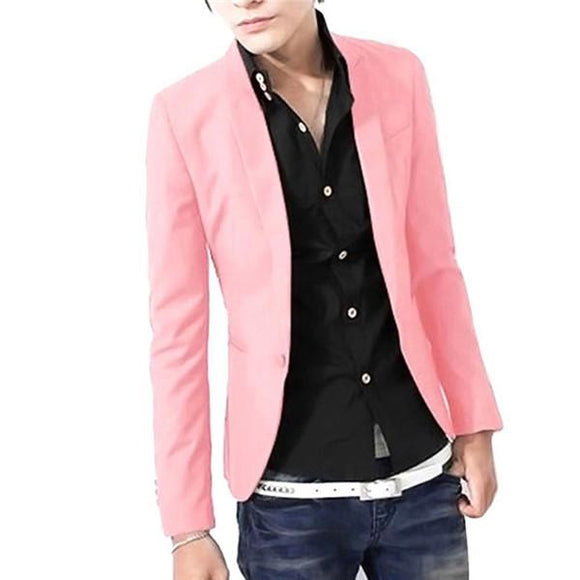 New Spring Autumn Single Button Slim Fit Casual Blazer