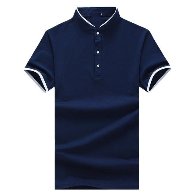 New Summer Fashion Men's Short Sleeve Boutique Polo Shirts Slim Cotton Breathable Polos