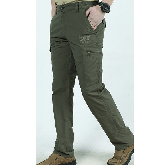 Military Pants For Men Plus Size Cargo Casual Quick-drying Bottoms With Pockets