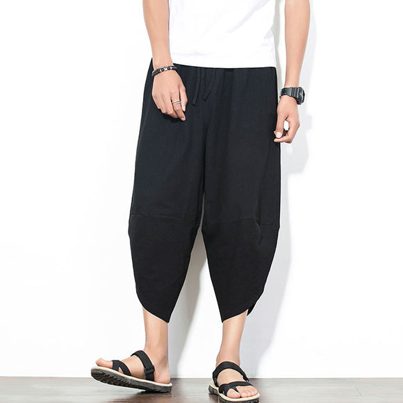 Harem Pants Fashion Plus Size Irregular Casual Trousers Bottoms For Man