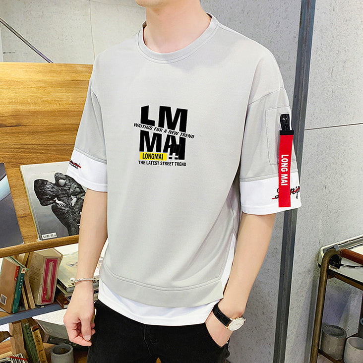 Chic T-shirt Plus Size Letter Printed Loose Tops For Man