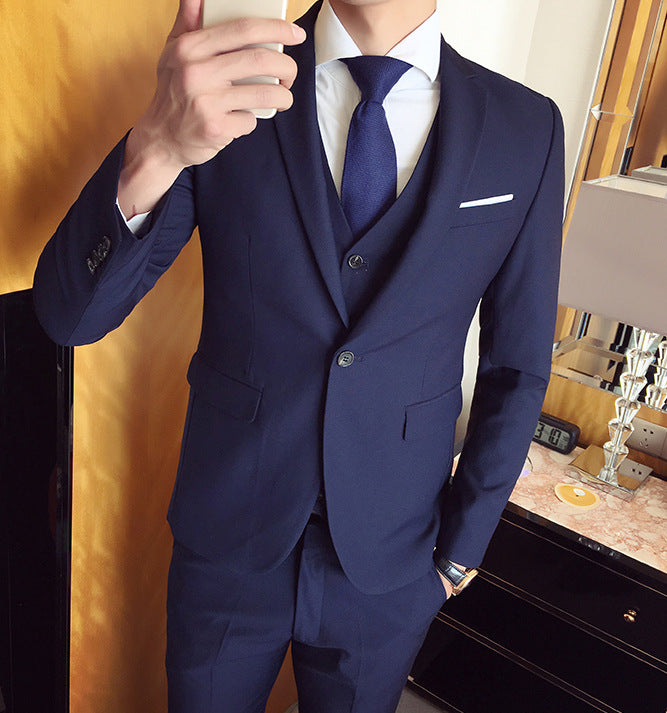 2018 New Men 3 Pieces Business Casual Wedding Groom Tuxedo Party ...