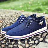 New Arrival Spring Summer Comfortable Canvas Shoes Men Lace-Up Flat Casual Shoes
