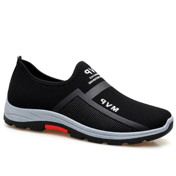 Spring New Men Air Mesh Breathable Comfortable Slip-on Outdoor Walking Casual Shoes