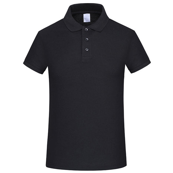 2019 New Solid Polo Shirt Mens Business Casual Lapel Single Breasted Short Sleeve T-shirt