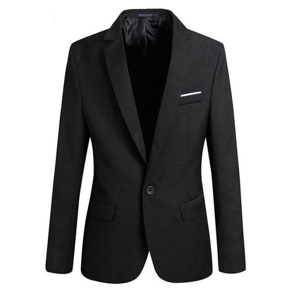 New Spring Autumn Men Single Button Slim Fit Casual Blazer