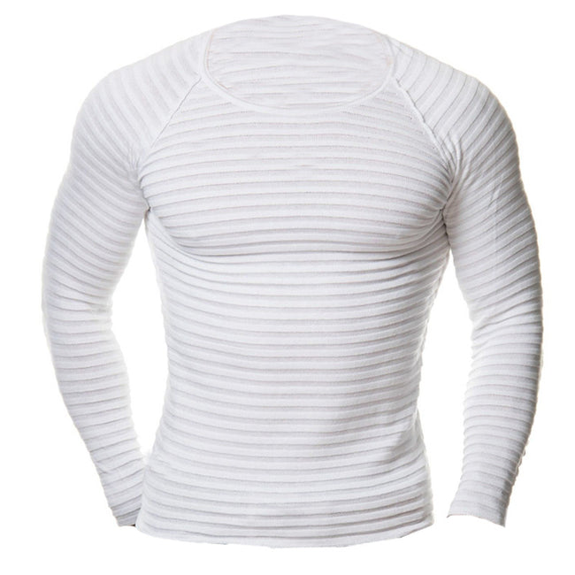 New Spring Autumn Men's Long Sleeve Crew Neck Crossfit Bodybuilding Gyms Casual T Shirt