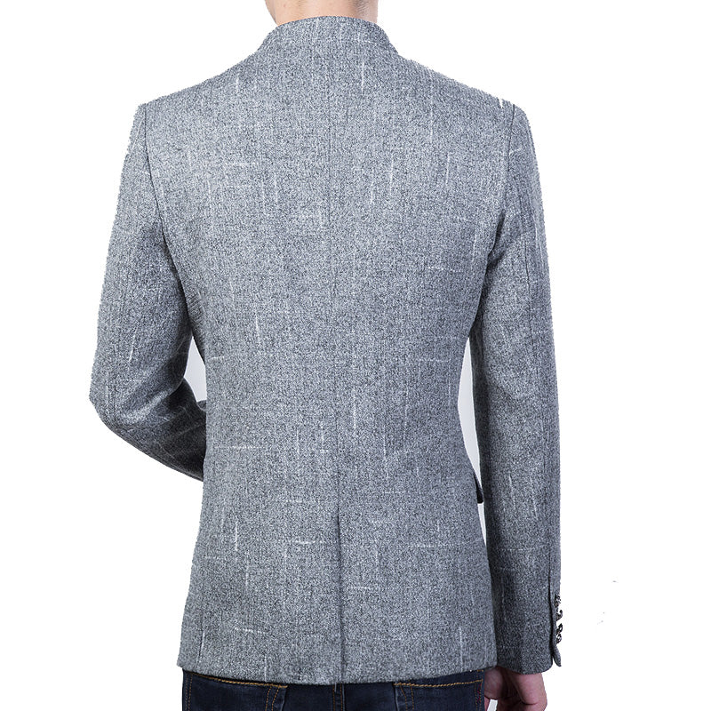 New Arrival Spring Autumn Mens Solid Color Slim Fit Casual Sport Jacket Plus Size