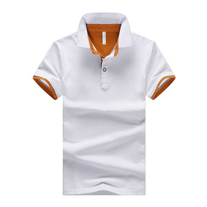 New Summer Men Short Sleeve Polo Shirt Solid Color Polos
