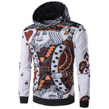 New Arrival Mens Playing Cards 3D Print Poker King Hoodies Hip Hop Fashion Pullover Sweatshirts