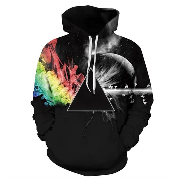 New Men/Women Sunlight Refraction Rainbow 3D Print Hoodies Pullover Sweatshirts