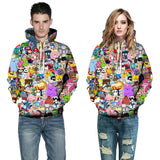 New Unisex Anime Cartoon 3D Print Hoodies Fashion Couples Sweatshirts