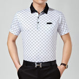 New Summer Men Style Short Sleeve Classic Polo Shirt Loose Fit Polos