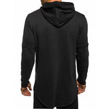 New Autumn Men's Long Sleeve Zip Irregular Hoodies Hip Hop Sweatshirts