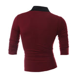 New Arrival Autumn Mens Long Sleeve O-Neck Solid Slim Fit Casual T-Shirt