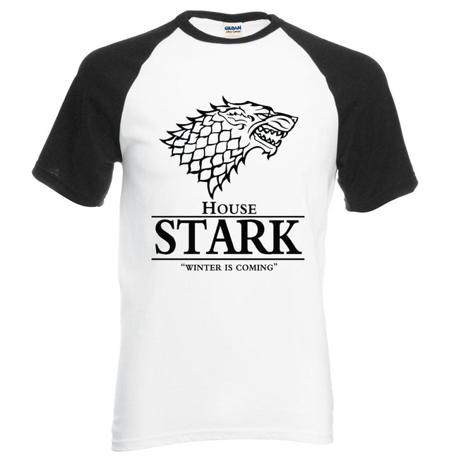 New Summer Men Short Sleeve O-Neck House Stark Letters Print Cotton Casual T Shirt