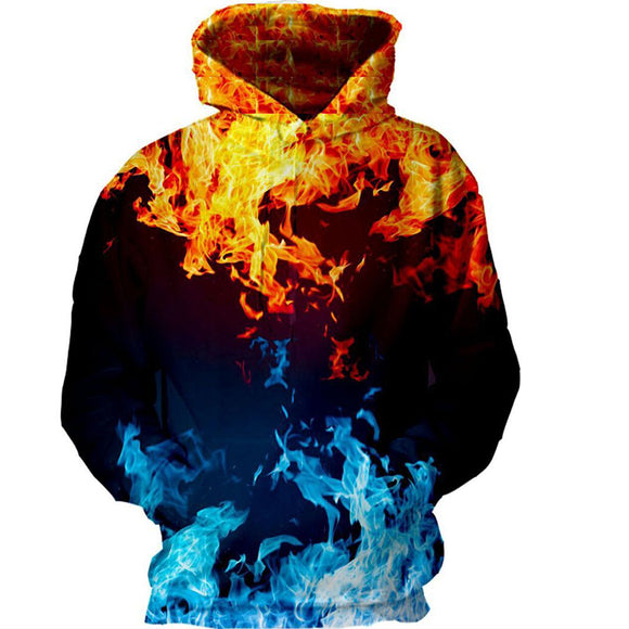 New Fashion Mens Street Style 3D Cloud Print Hoodies Casual Pullover Social Club Sweatshirts