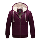 New Winter Mens Cardigan Zipper Thick Hoodies Velvet Sweatshirt