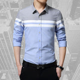 New Mens Long Sleeve Slim Fit Turn-down Collar Dress Shirts Casual Social Shirts