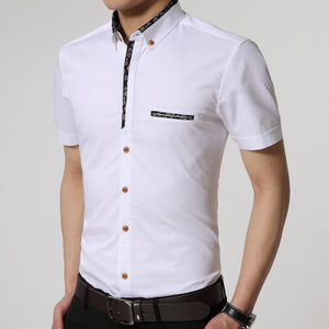 New Summer Men Cotton Casual Short Sleeves Shirts Plus Size