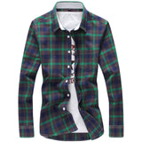 New Long Sleeve Plaid Checkered Shirt Button Down Casual Shirts