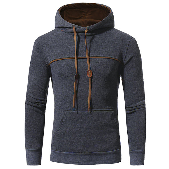 New Fashion Mens Casual Hoodies Solid Color Jaskets
