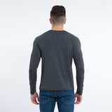 New Mens Long Sleeve V Neck Slim Fit Casual Cotton T Shirt