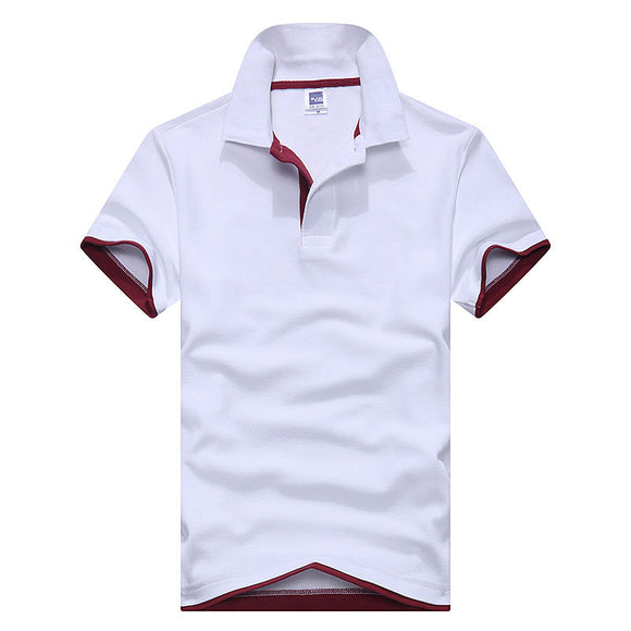 New Summer Men Short Sleeve Business Solid Polo Shirt Casual Cotton Breathable Polos